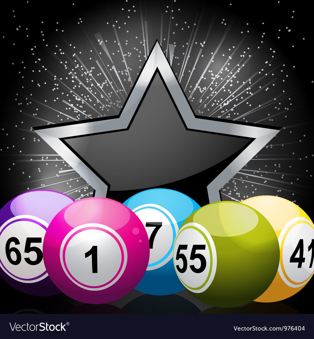 Star bingo ball background vector | Price: 1 Credit (USD $1)