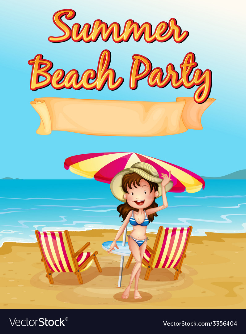 Summer beach party vector | Price: 3 Credit (USD $3)