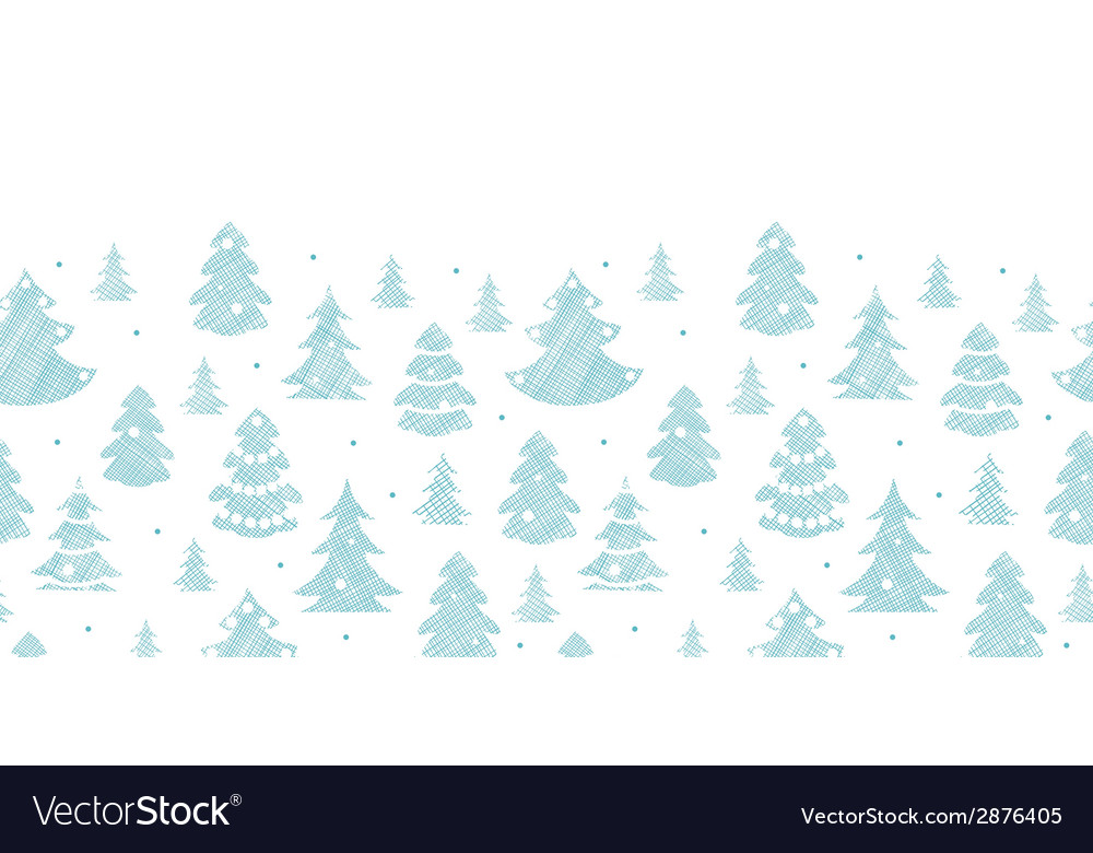 Blue decorated christmas trees silhouettes textile vector | Price: 1 Credit (USD $1)