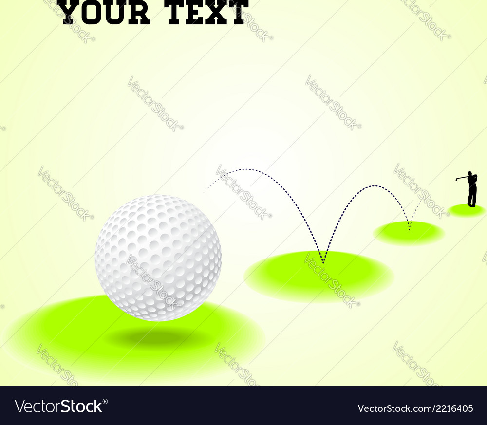 Bouncing golf ball vector | Price: 1 Credit (USD $1)