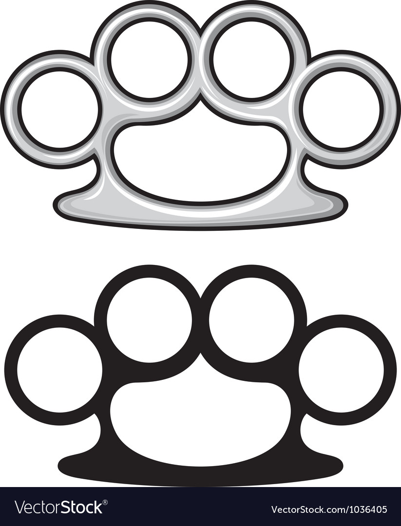 Brass knuckles vector | Price: 1 Credit (USD $1)