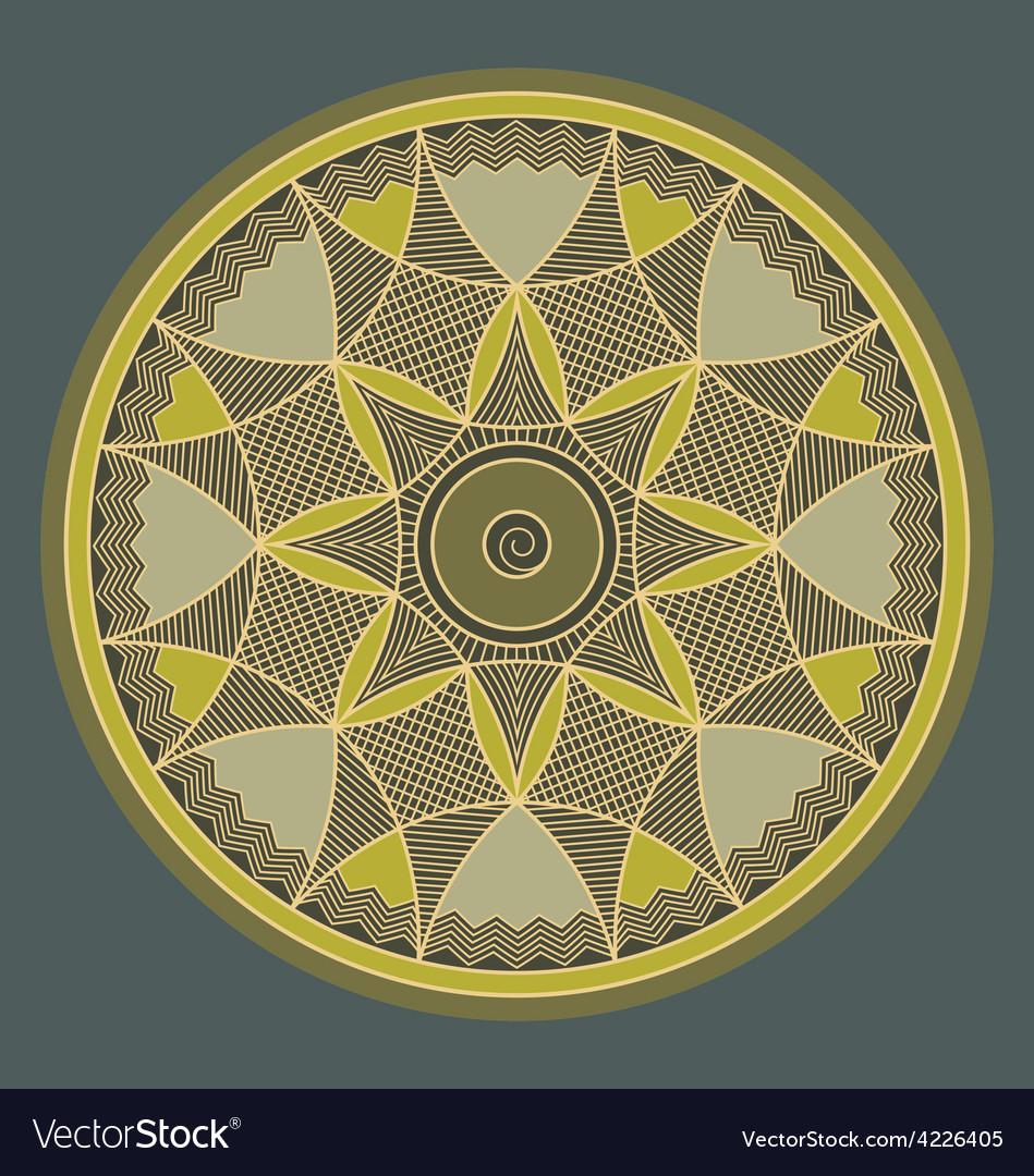Byzantine rosette vector | Price: 1 Credit (USD $1)