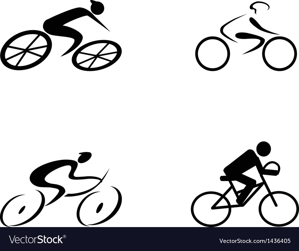 Cyclist icons vector | Price: 1 Credit (USD $1)