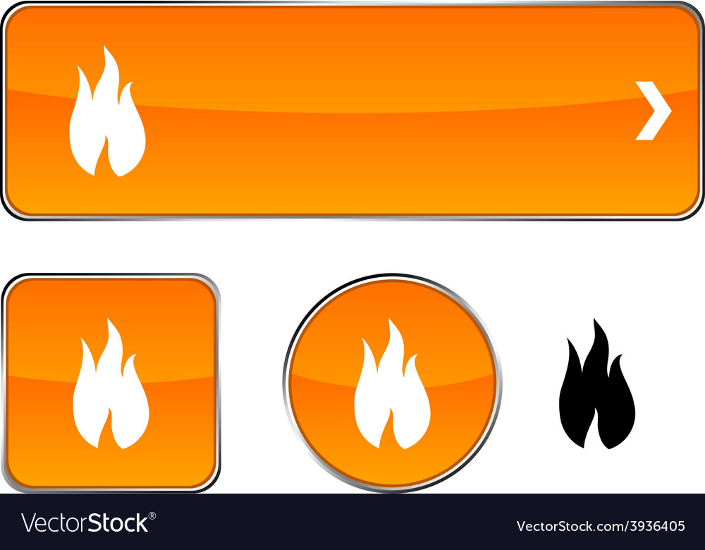 Fire button set vector | Price: 1 Credit (USD $1)