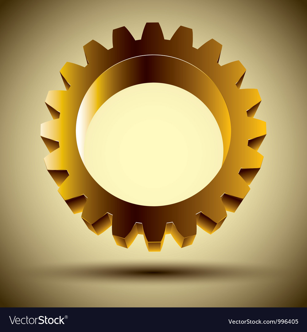 Golden gear vector | Price: 1 Credit (USD $1)