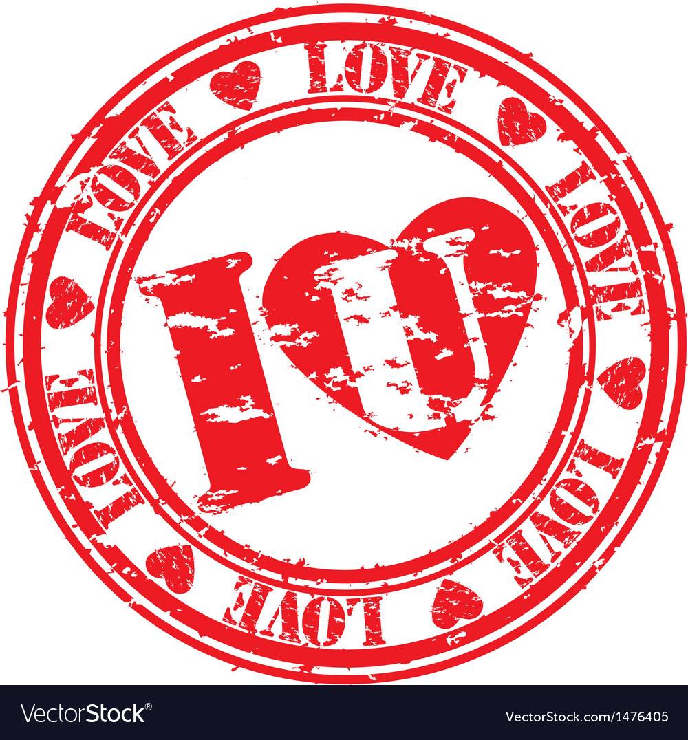 I love you stamp vector | Price: 1 Credit (USD $1)