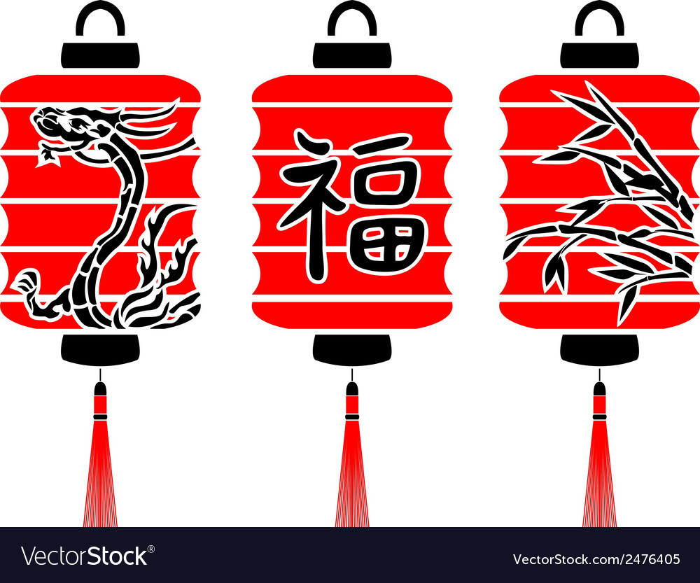 Japanese lanterns vector | Price: 1 Credit (USD $1)
