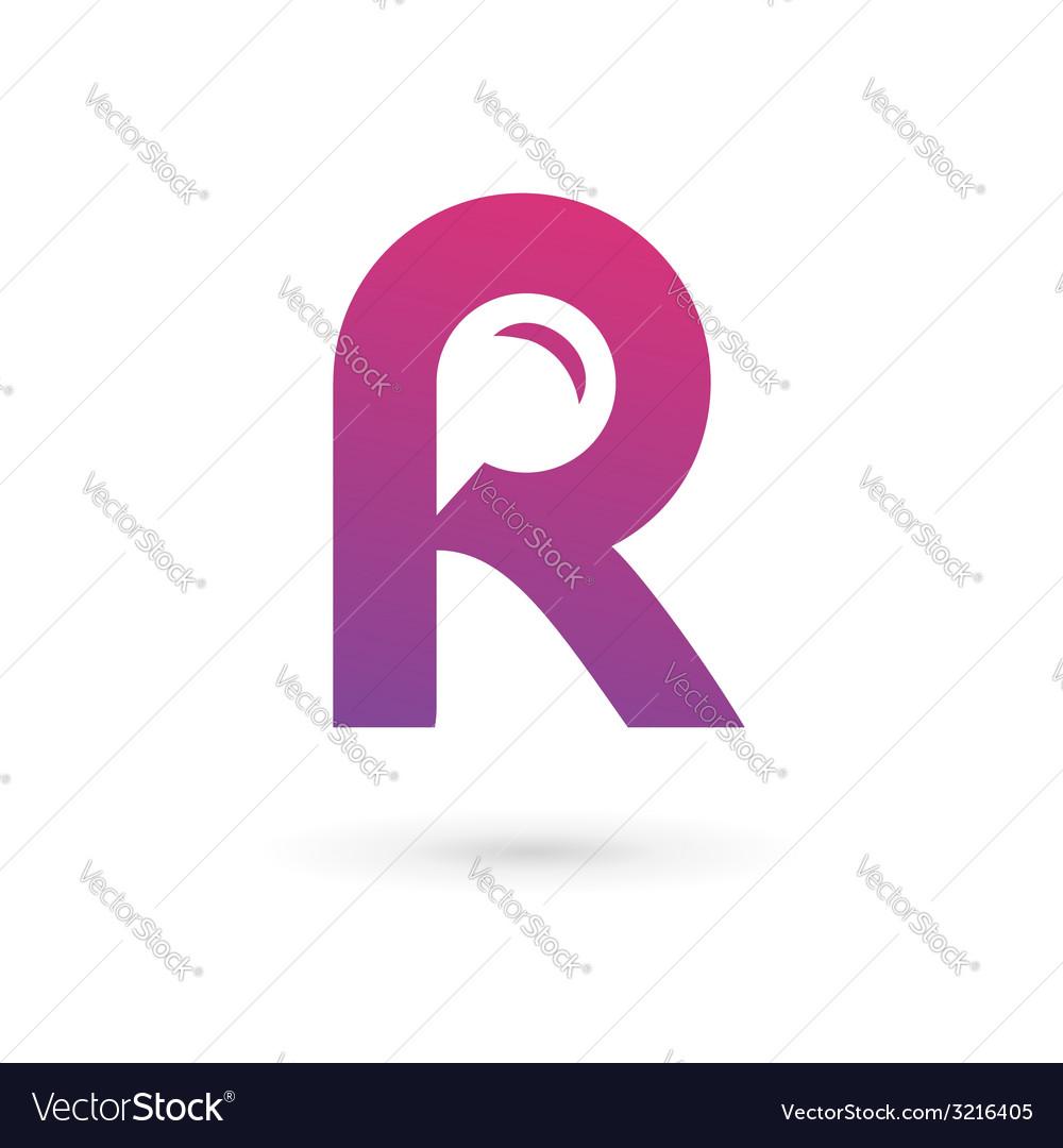 Letter r speech bubble logo icon design template vector | Price: 1 Credit (USD $1)