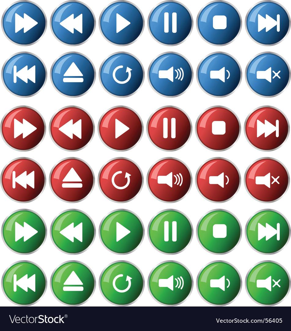 Media icons vector   Price: 1 Credit (USD $1)