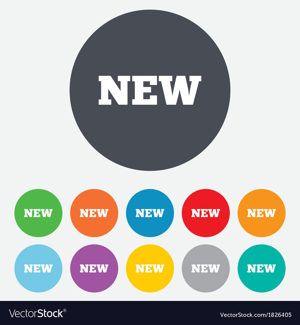 New sign icon new arrival button vector | Price: 1 Credit (USD $1)