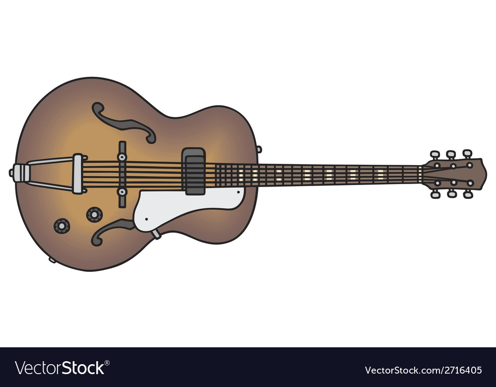 Old electric guitar vector | Price: 1 Credit (USD $1)