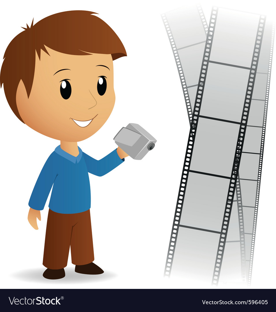 Operator video camera vector | Price: 3 Credit (USD $3)