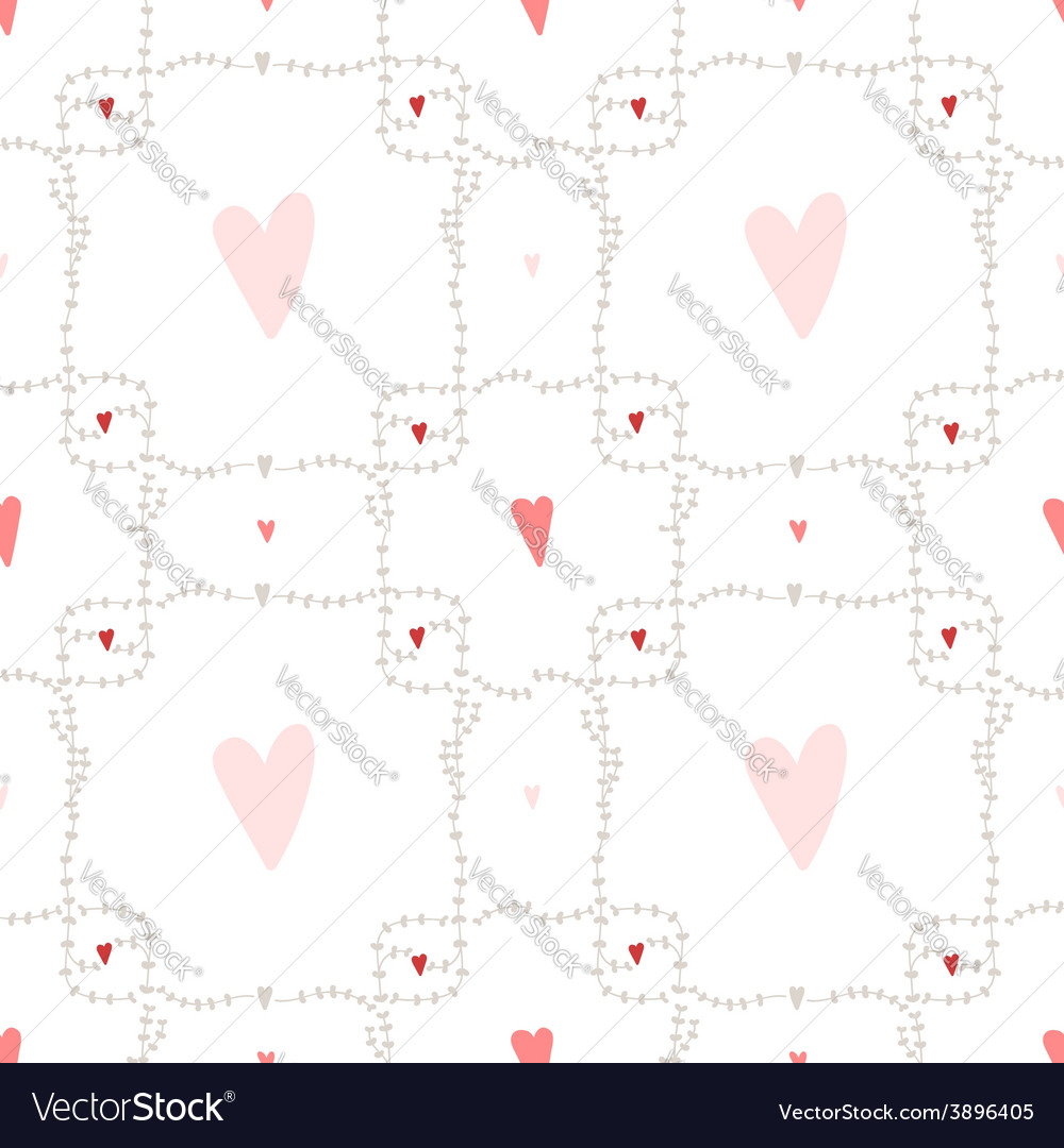 Seamless pattern with square wreath element vector | Price: 1 Credit (USD $1)