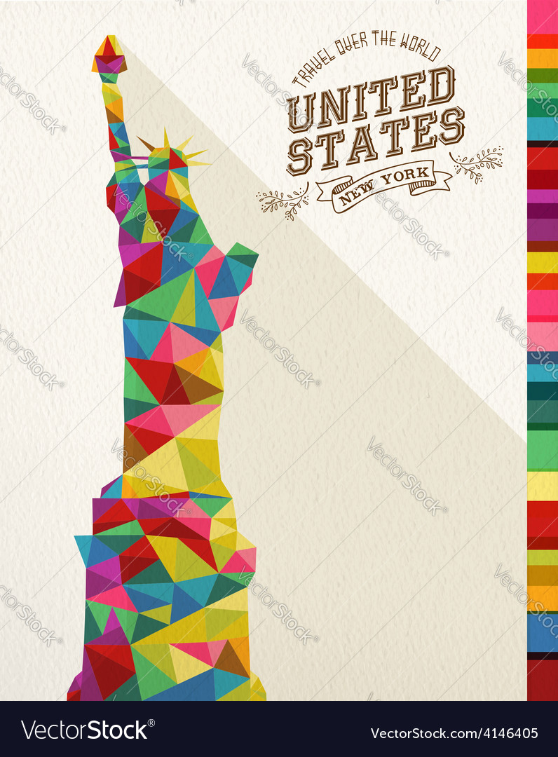 Travel usa landmark polygonal monument vector | Price: 1 Credit (USD $1)