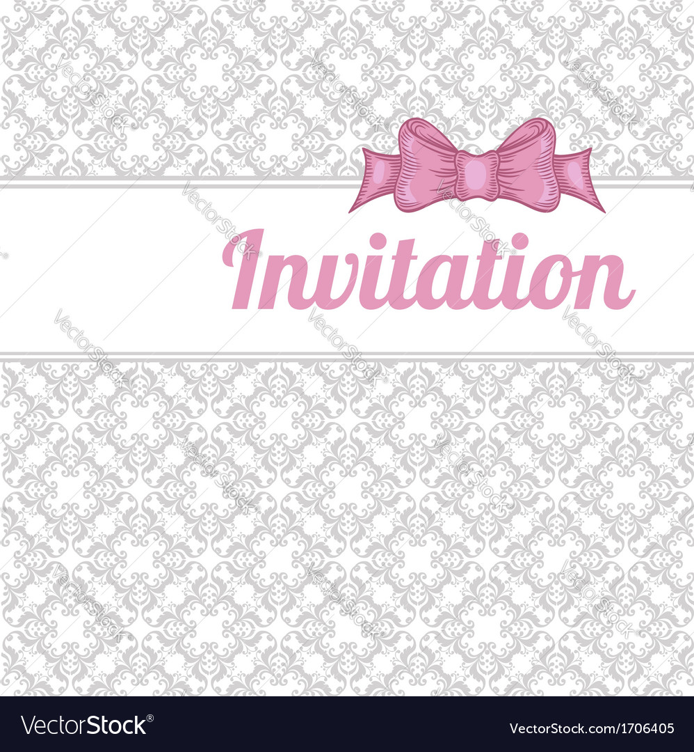 Vintage background with red bow vector | Price: 1 Credit (USD $1)
