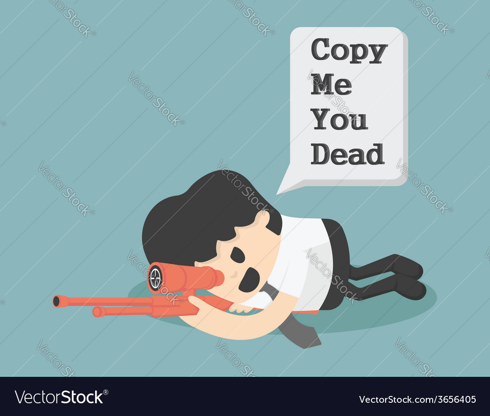 Warning copy cartoons concepts vector | Price: 1 Credit (USD $1)