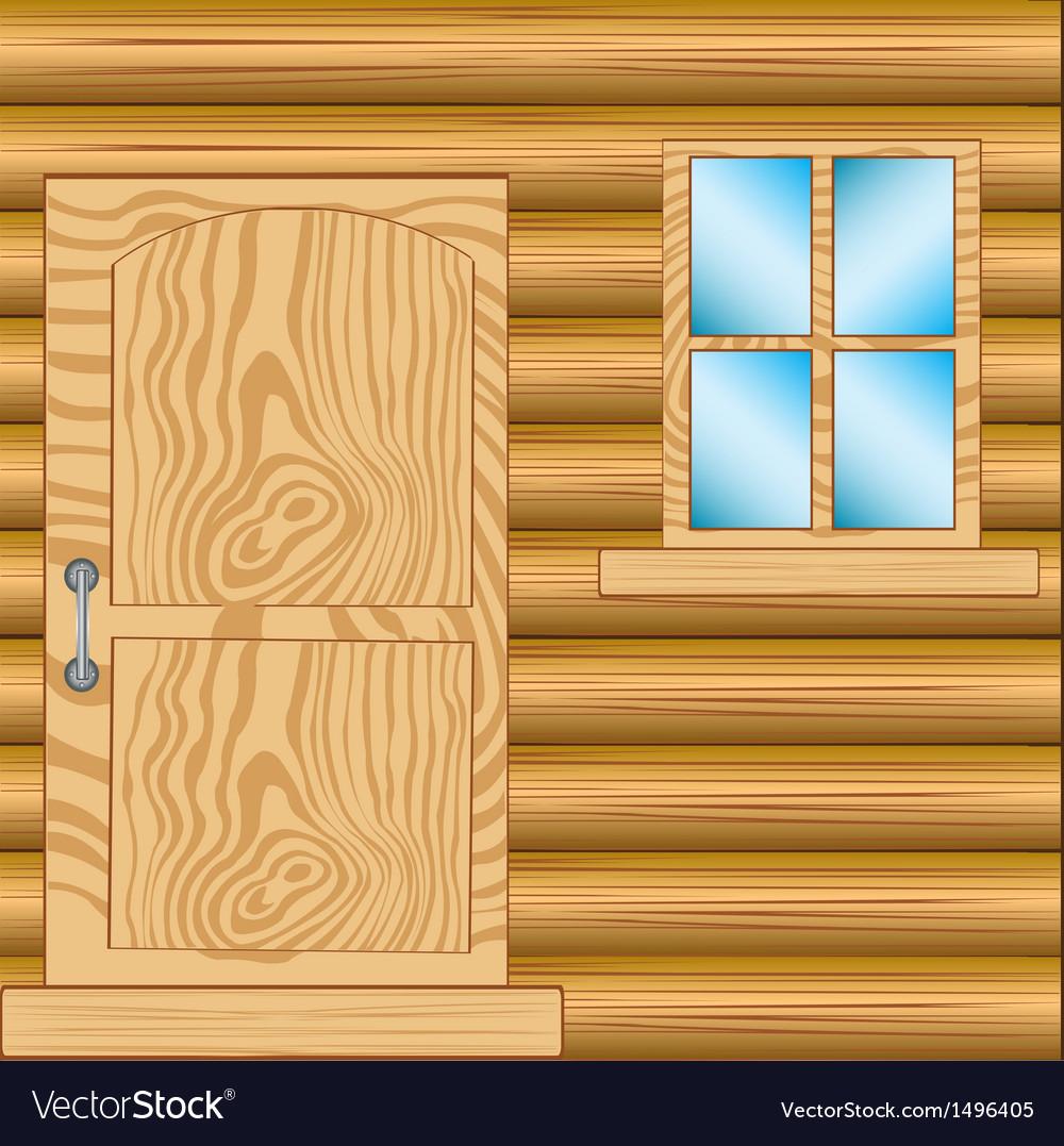 Window and door in house from tree vector | Price: 1 Credit (USD $1)