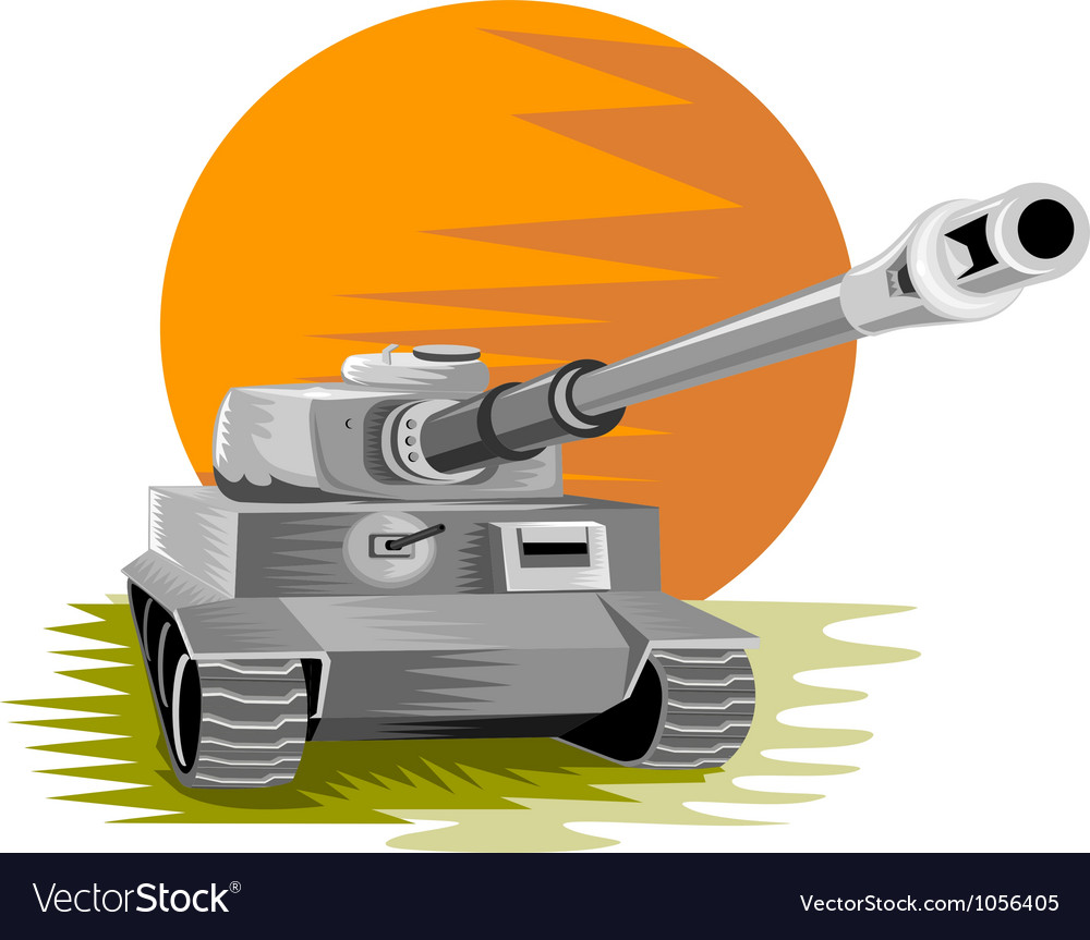 World war two panzer battle tank vector | Price: 1 Credit (USD $1)
