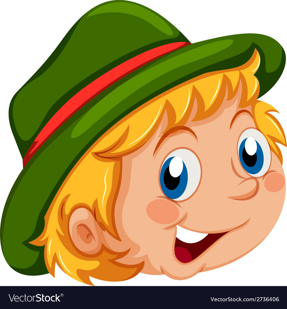A happy face of a kid vector | Price: 1 Credit (USD $1)