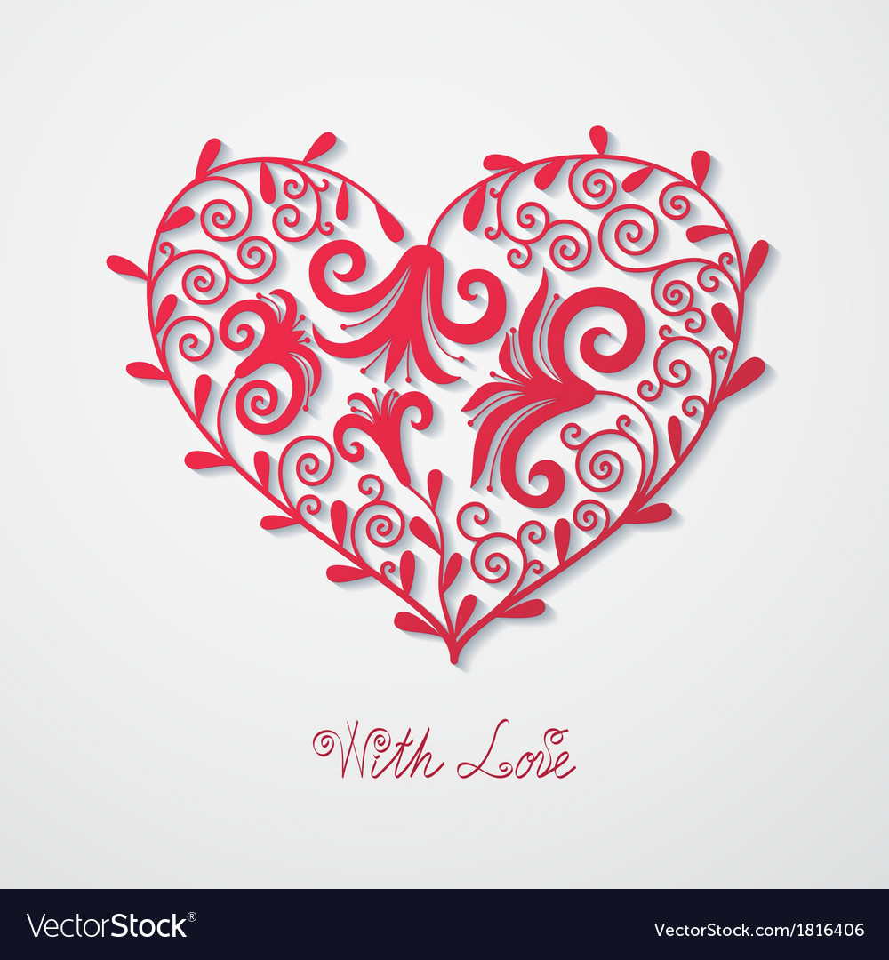 Abstract background with heart vector | Price: 1 Credit (USD $1)