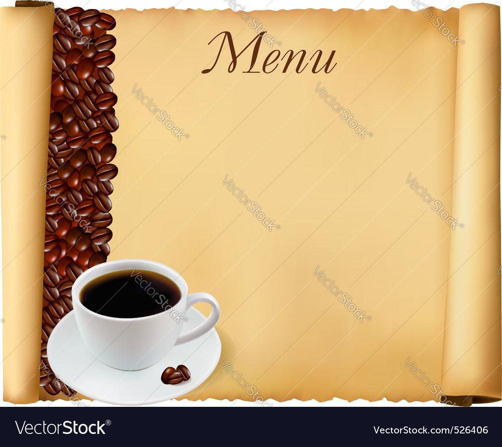 Coffee menu background vector | Price: 1 Credit (USD $1)
