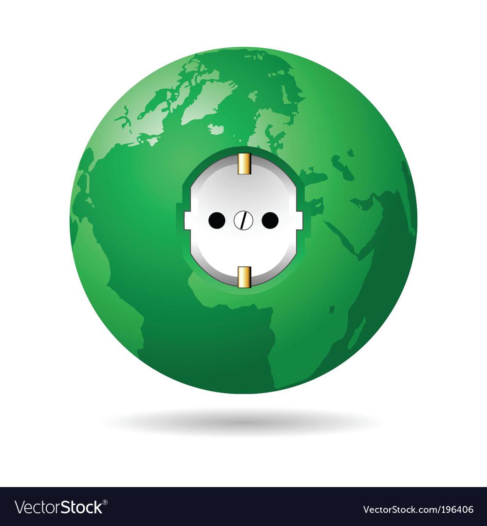 Earth power eu vector | Price: 1 Credit (USD $1)