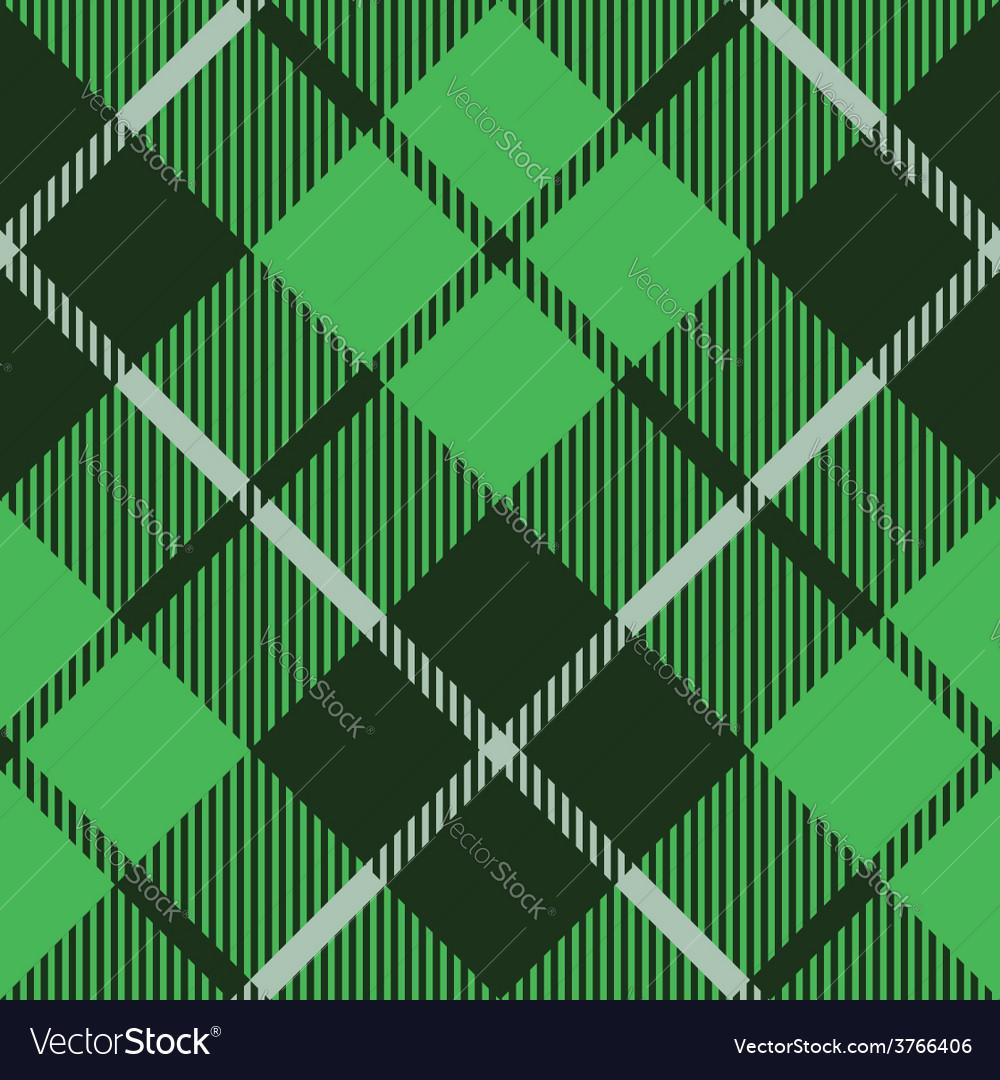 Green tartan fabric texture diagonal pattern vector | Price: 1 Credit (USD $1)