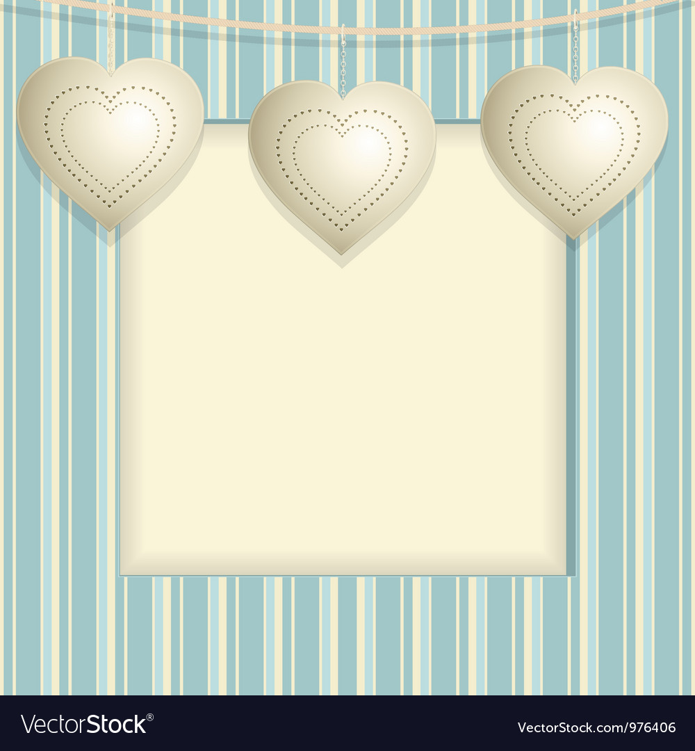 Hanging heart background vector | Price: 1 Credit (USD $1)