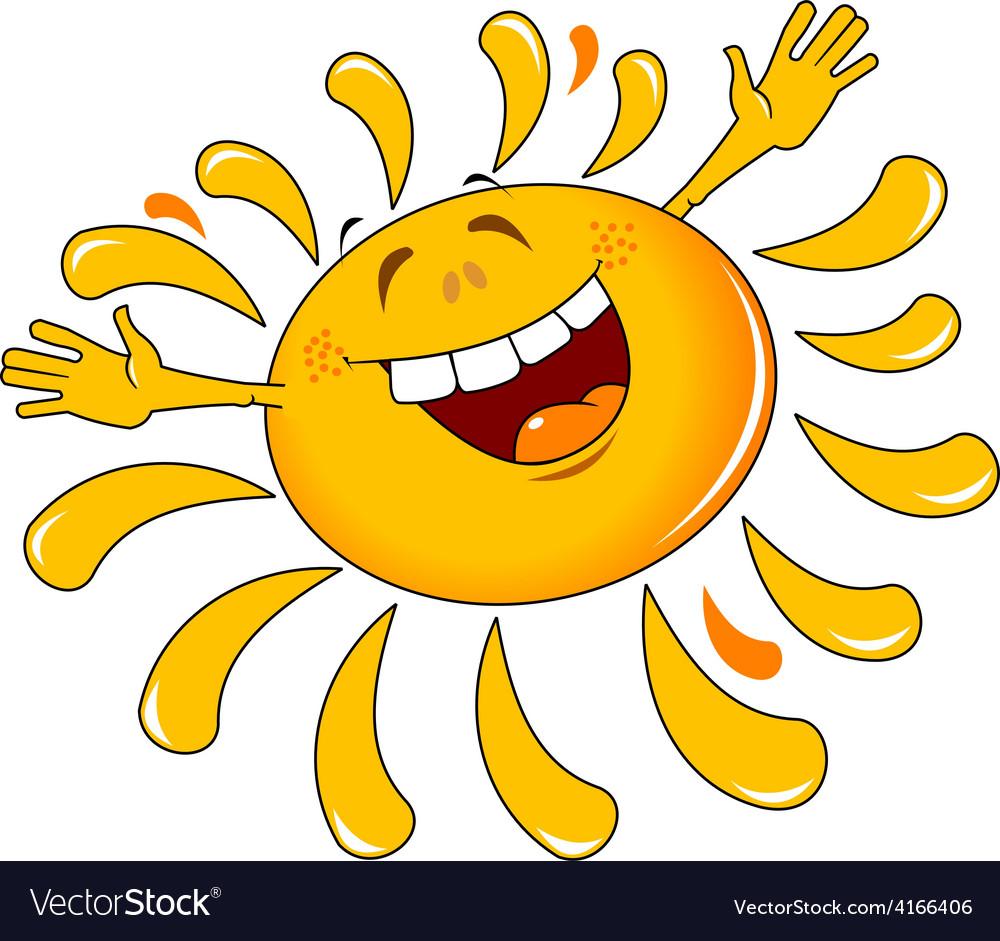 Happy cartoon sun design vector | Price: 1 Credit (USD $1)