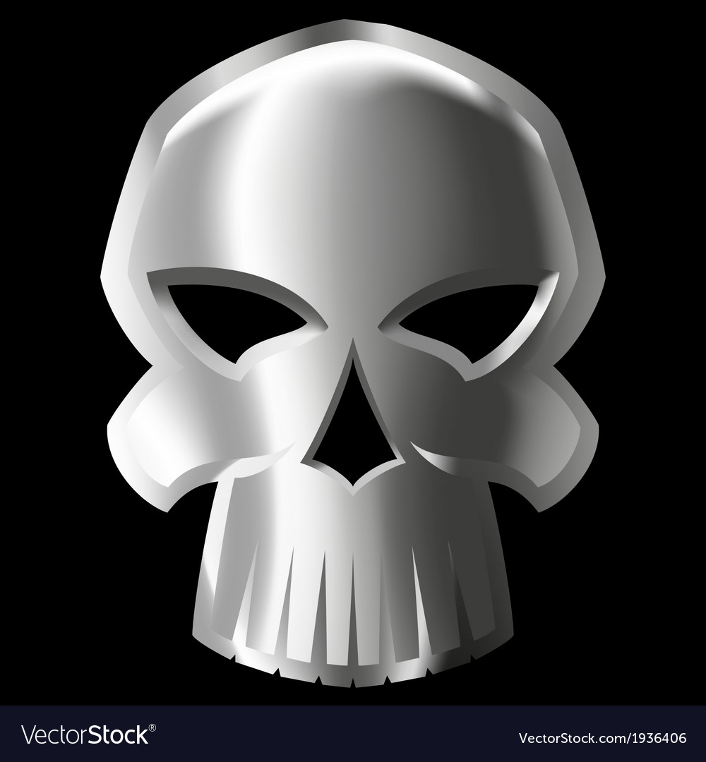 Metal skull vector | Price: 1 Credit (USD $1)