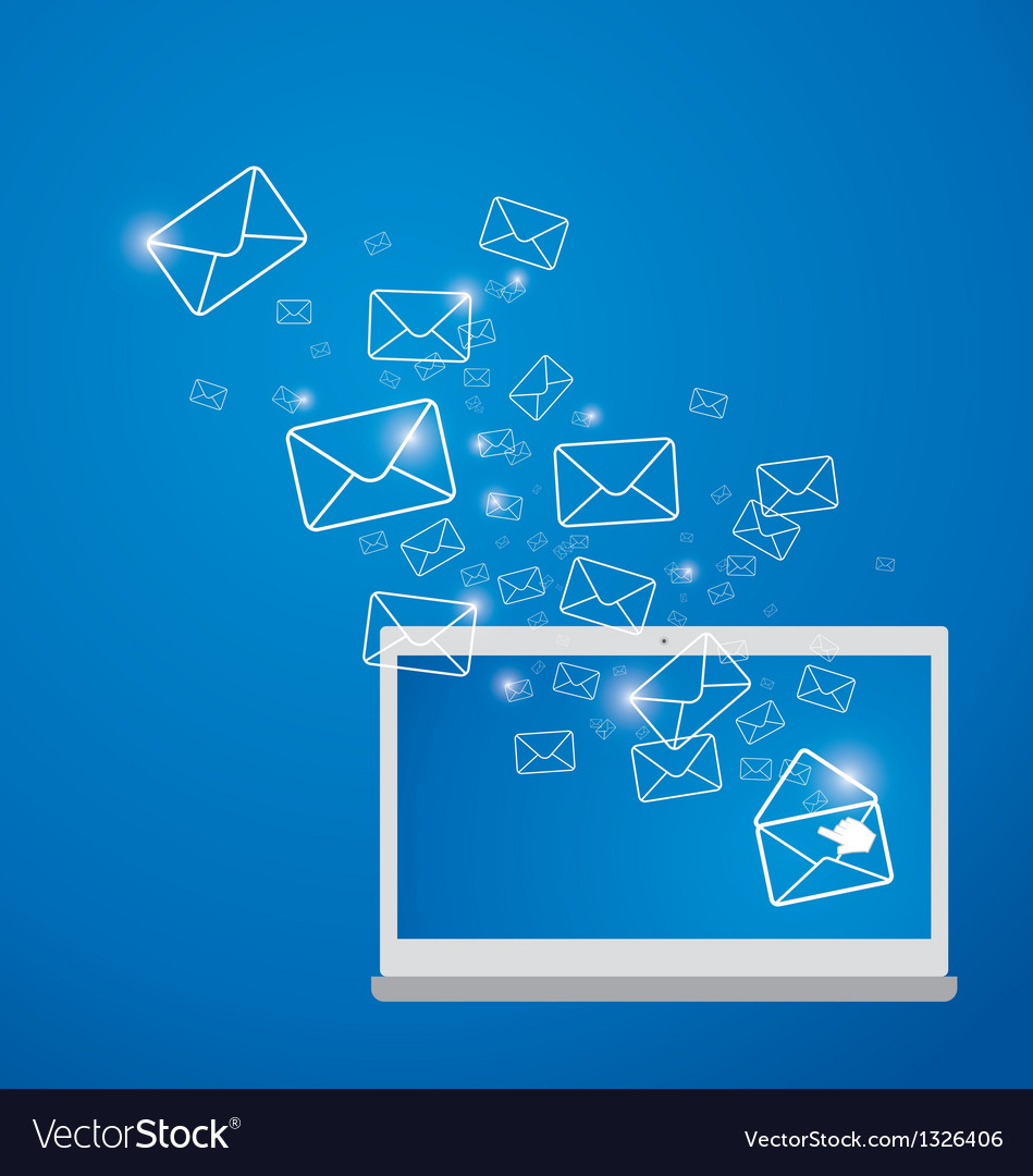 Sending e-mail vector | Price: 1 Credit (USD $1)
