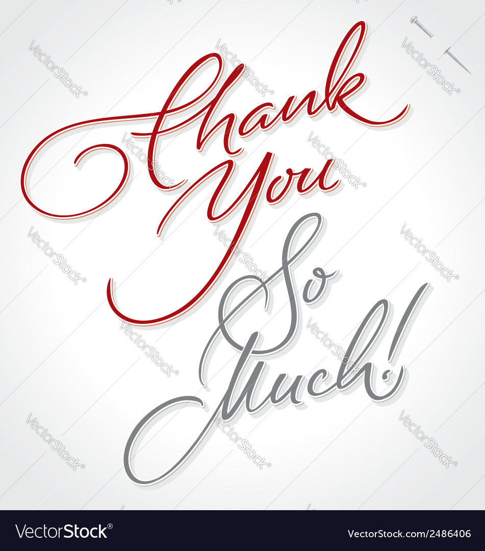 Thank you very much hand lettering vector | Price: 1 Credit (USD $1)