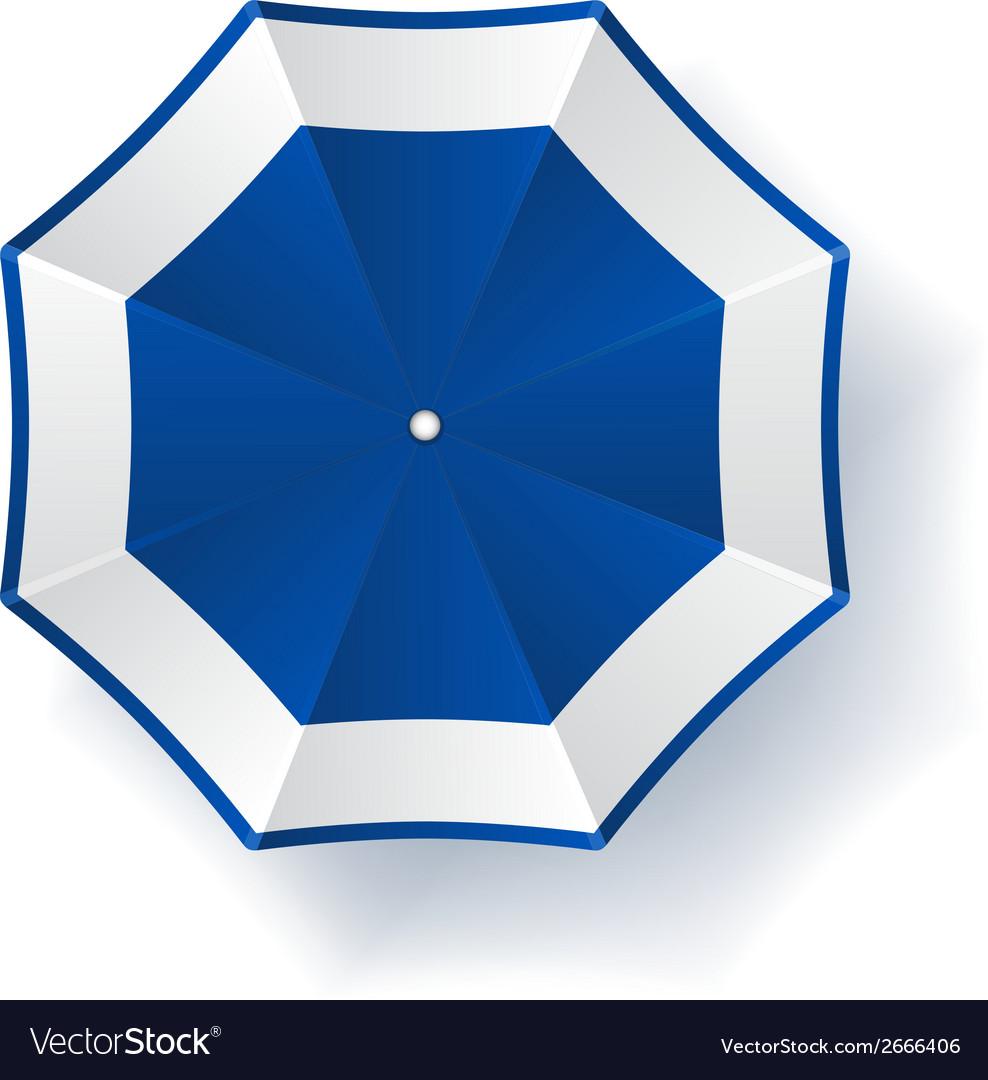 Umbrella blue white vector | Price: 1 Credit (USD $1)