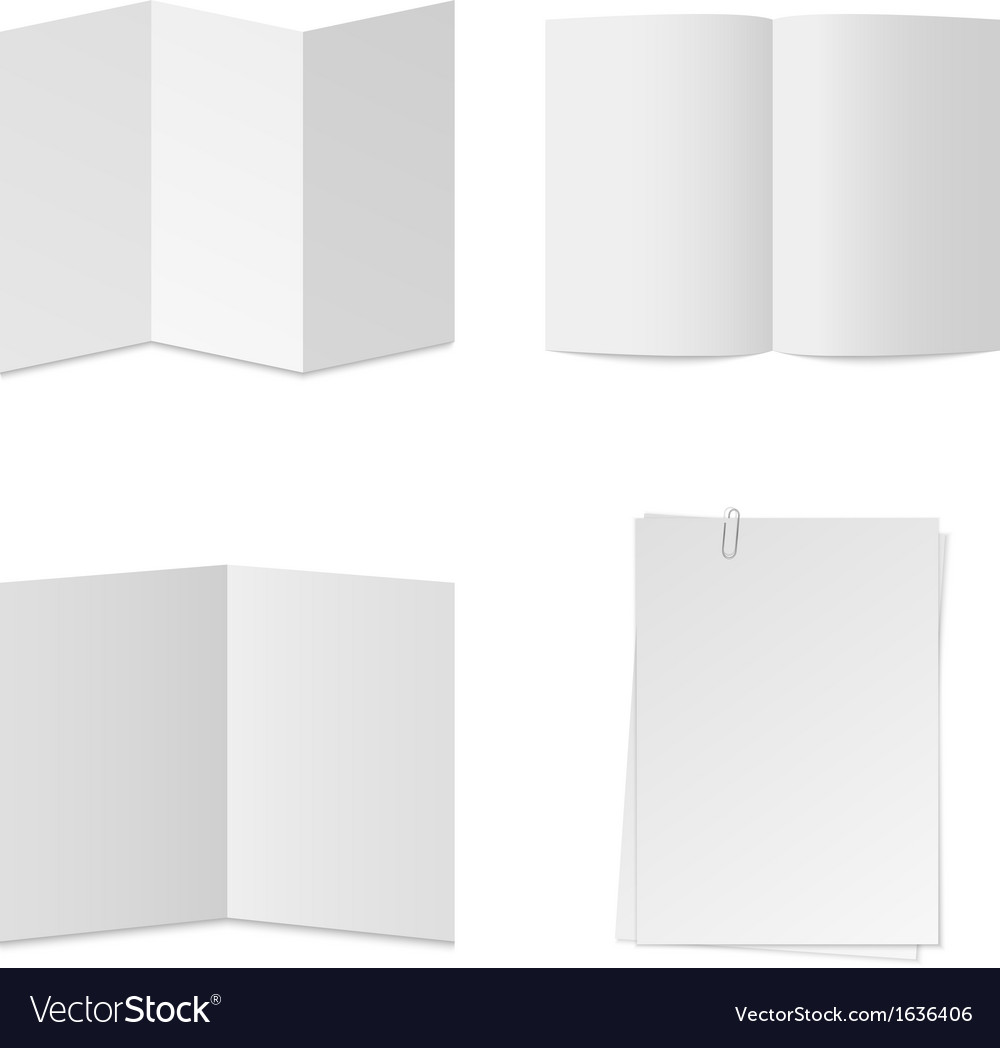 White paper set vector | Price: 1 Credit (USD $1)