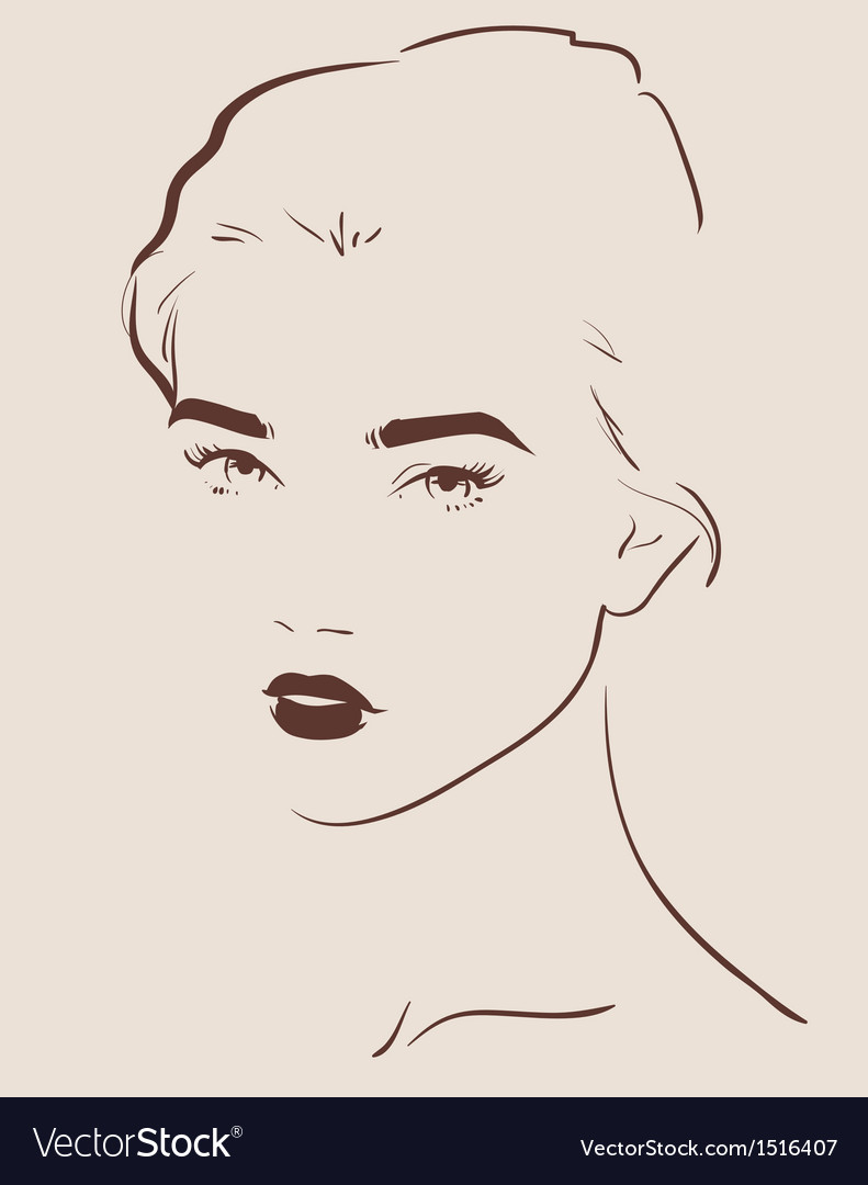 Beautiful woman vector | Price: 3 Credit (USD $3)