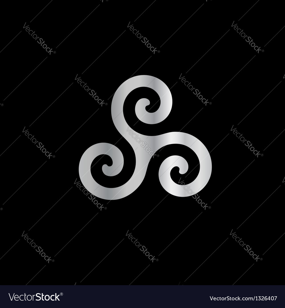 Celtic neopaganism triple spiral triskelion vector | Price: 1 Credit (USD $1)