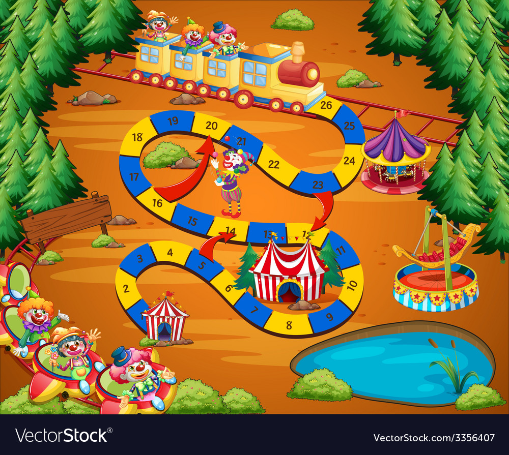 Clown circus game vector | Price: 1 Credit (USD $1)