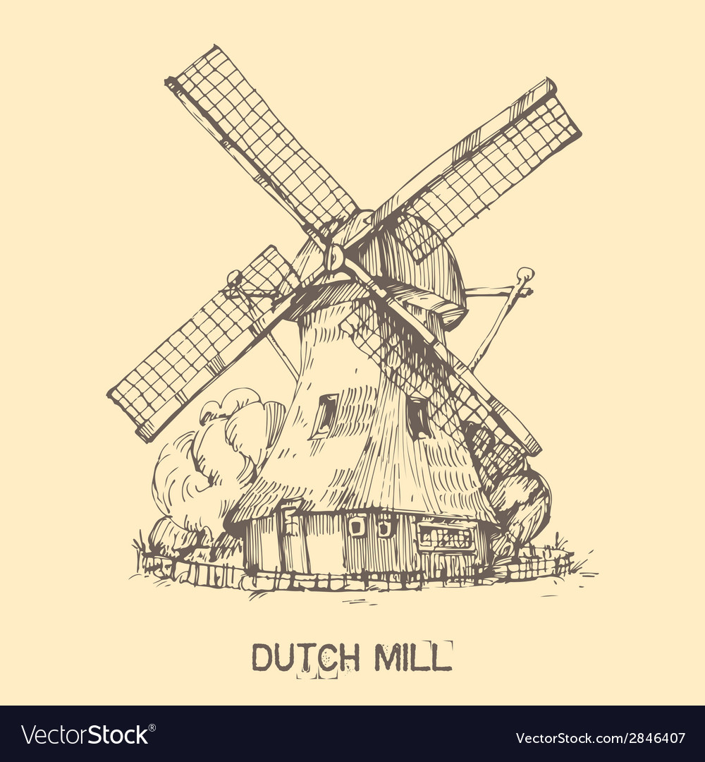 Dutch mill vector | Price: 1 Credit (USD $1)