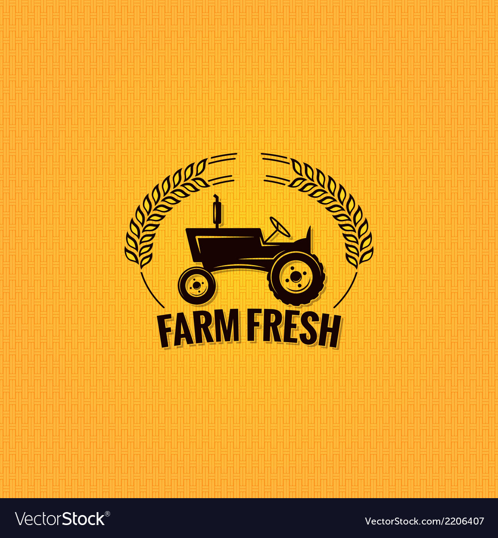 Farm tractor design background vector | Price: 1 Credit (USD $1)