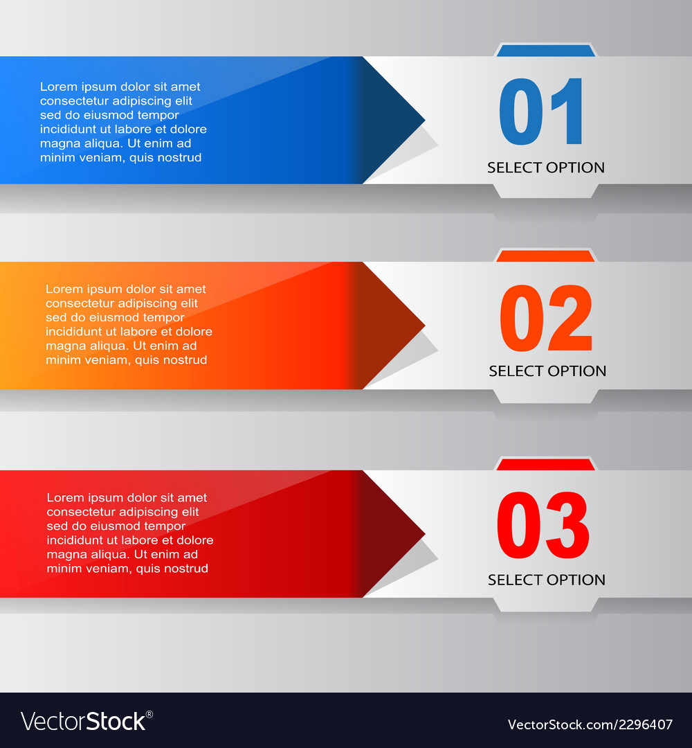 Infographic banner template vector | Price: 1 Credit (USD $1)
