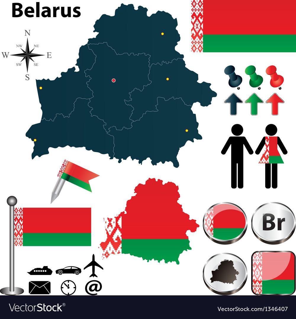Map of belarus vector | Price: 1 Credit (USD $1)