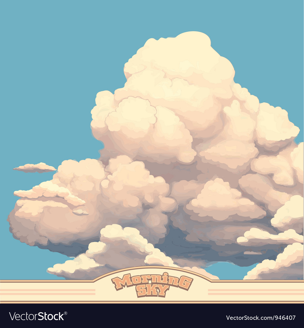 Morning sky vector | Price: 1 Credit (USD $1)