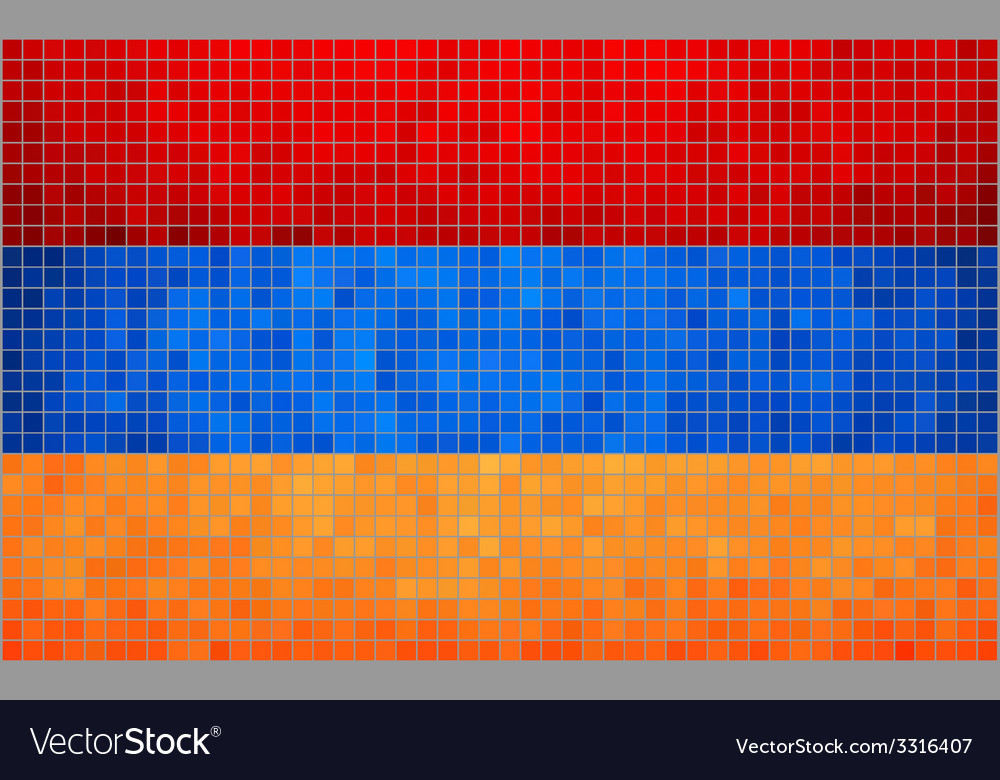 Mosaic flag of armenia vector | Price: 1 Credit (USD $1)