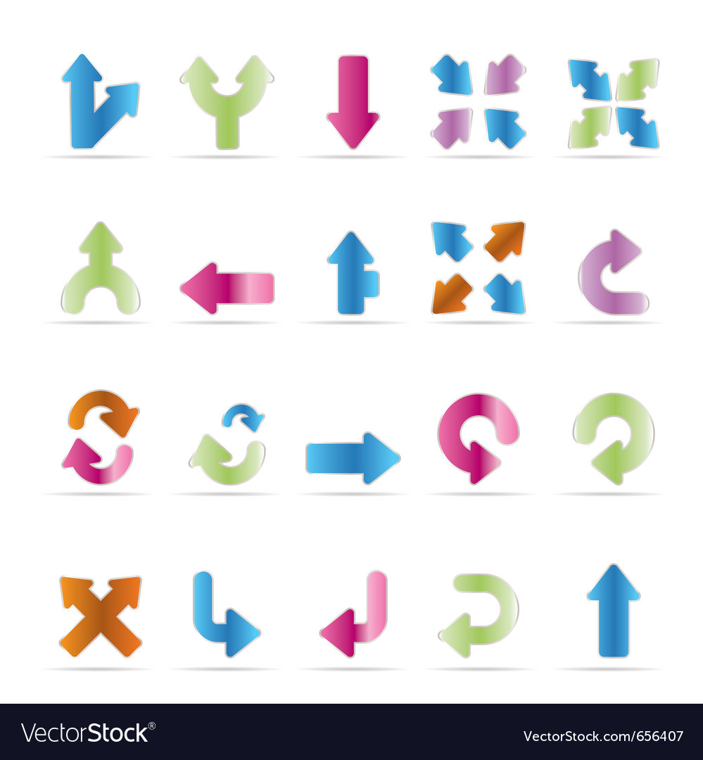 Server and computer icons - arrows vector | Price: 1 Credit (USD $1)