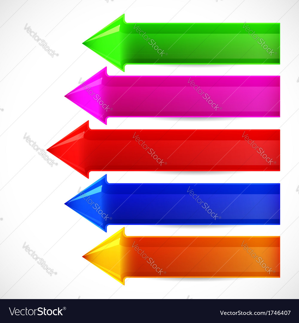 Set of colorful arrows for your chart vector | Price: 1 Credit (USD $1)