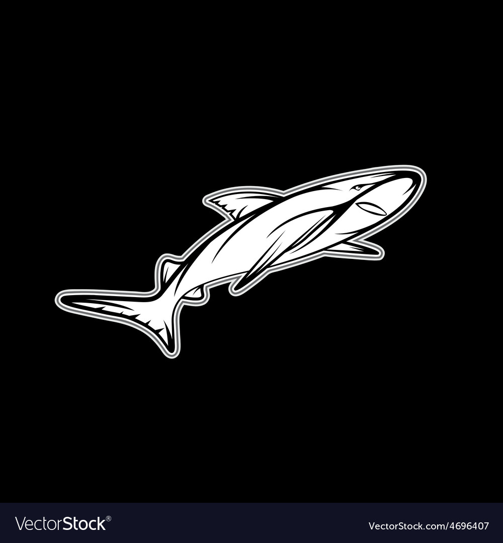 Shark sport team mascot design template vector | Price: 1 Credit (USD $1)