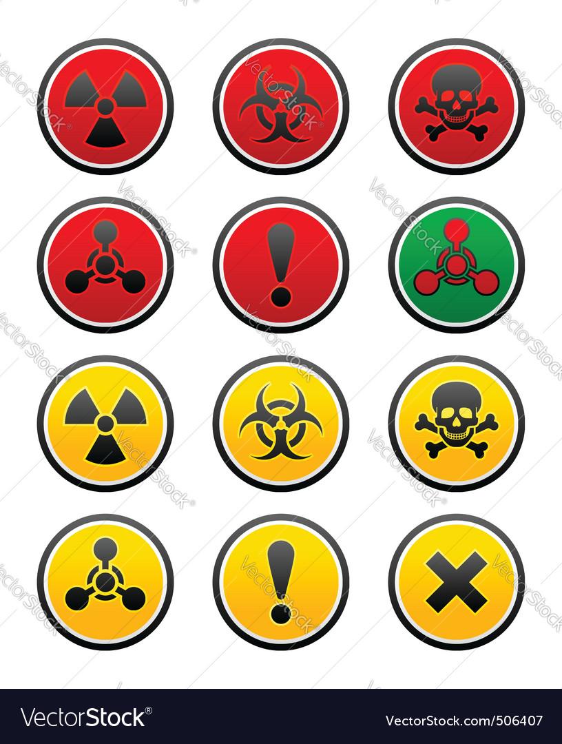 Symbols of hazard vector | Price: 1 Credit (USD $1)