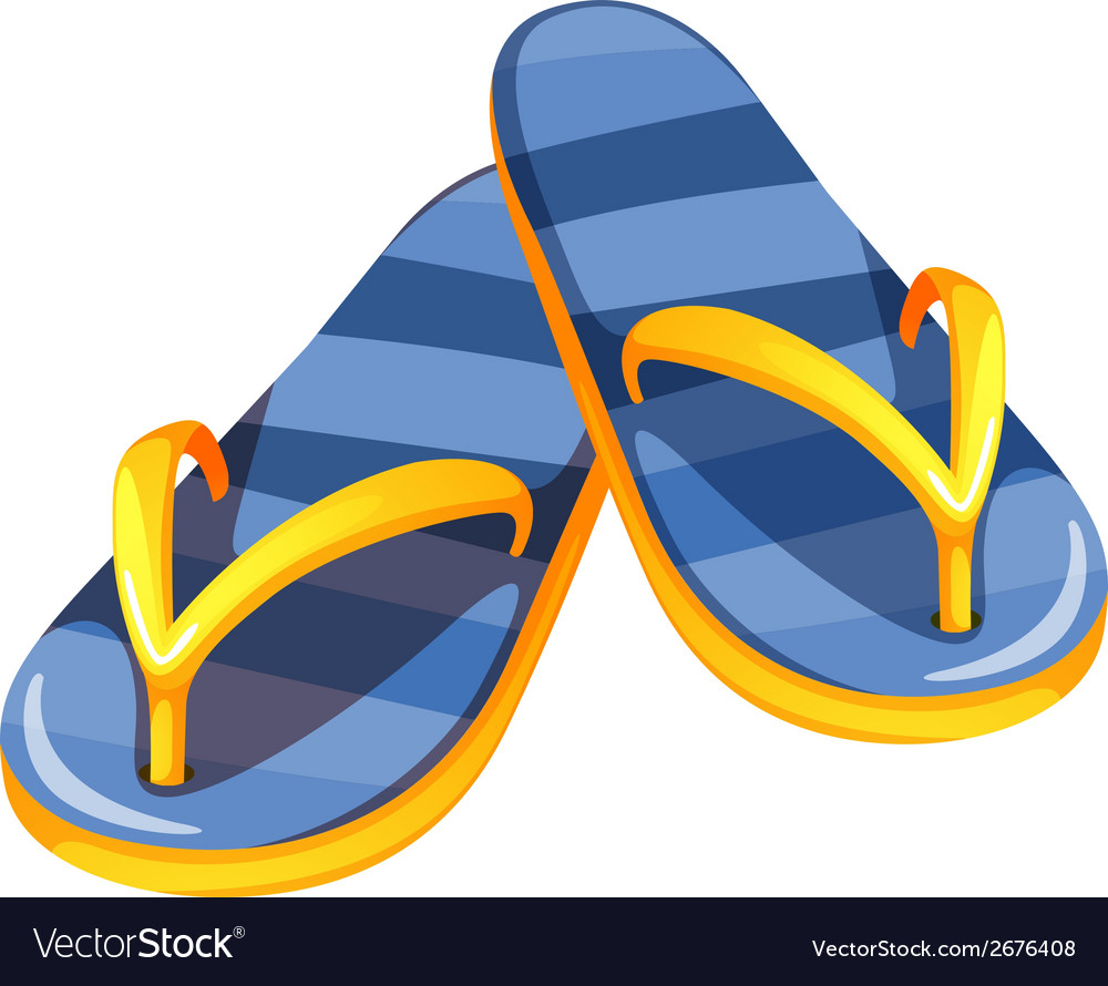A pair of blue sandals vector | Price: 1 Credit (USD $1)