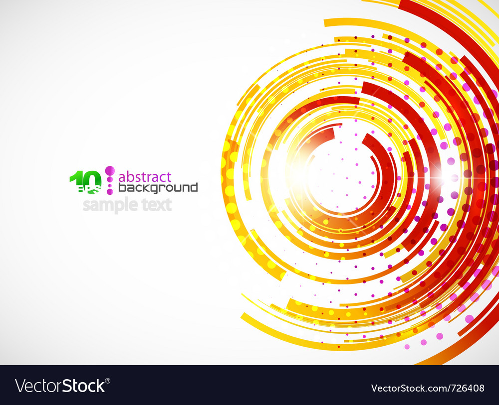 Abstract technology circle background vector | Price: 1 Credit (USD $1)