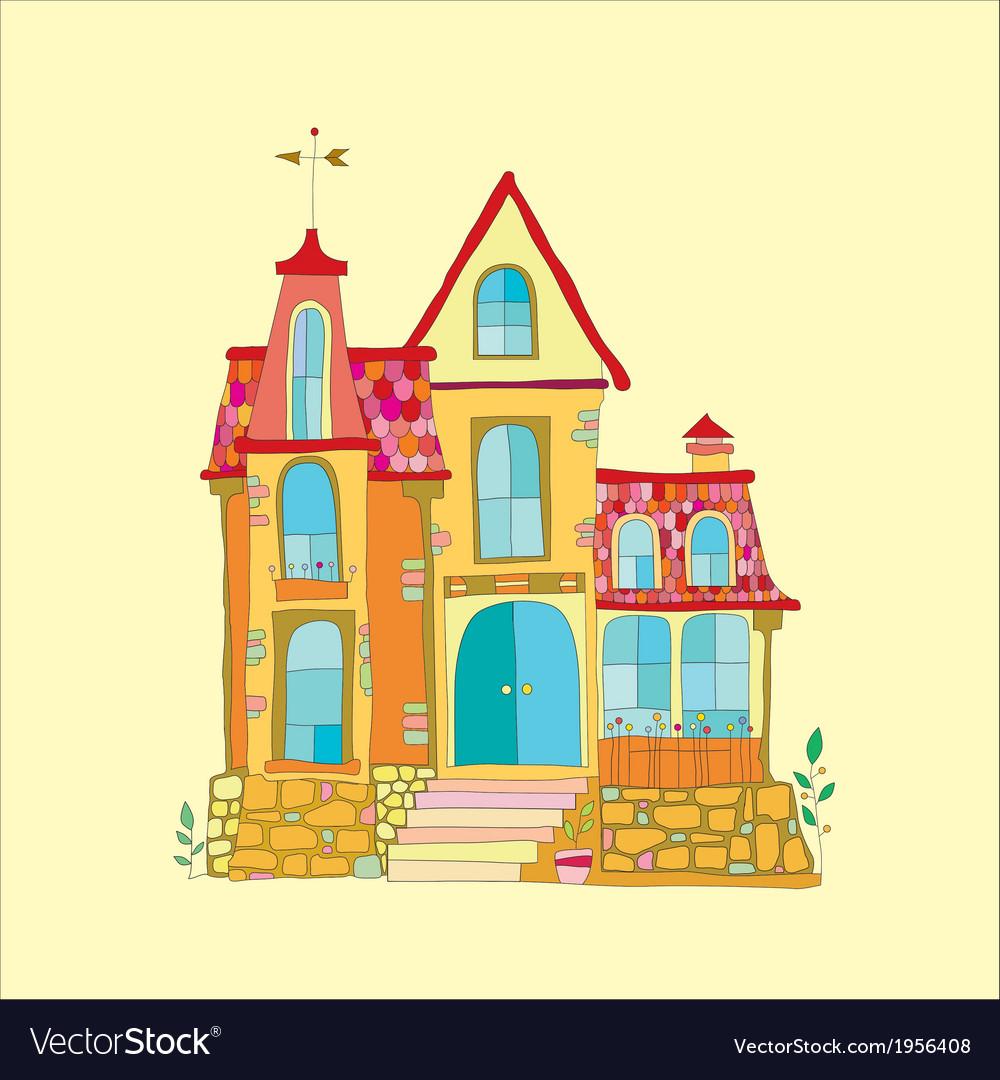 Beautiful mansion vector | Price: 1 Credit (USD $1)
